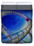 Roller Coaster Ocean City Md Duvet Cover by Paul Wear