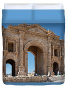 Roman Arched Entry Duvet Cover by Mae Wertz