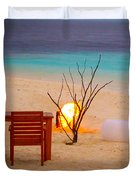 Romantic Beach Duvet Cover