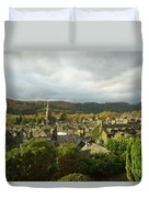 Rooftops Of Ambleside In Early Morning In The Lake District Duvet Cover