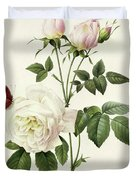 Rosa Bengale The Hymenes By Redoute Duvet Cover