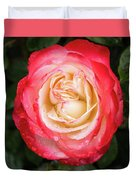 Rose And Rain - The Ice-cream Rose Duvet Cover