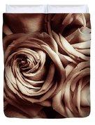 Rose Carmine Duvet Cover
