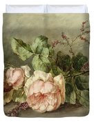 Roses, 19th Century Duvet Cover