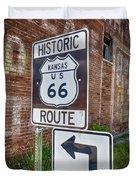 Route 66 - Kansas #1 Duvet Cover
