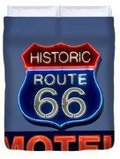 Route 66 Motel Duvet Cover