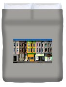 Row Houses Baltimore Duvet Cover