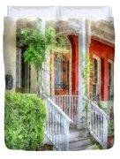 Row Houses Washington Dc Duvet Cover
