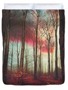 Ruby Red Evening Duvet Cover
