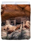 Ruins At Butler On The San Juan River  Duvet Cover