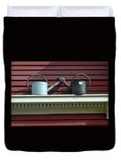 Rustic Watering Cans  Duvet Cover