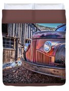 Rusty Old Truck In A Ghost Town In Arizona Duvet Cover
