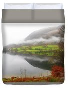 Rydal Water On A Misty Day In December Duvet Cover