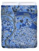 Sacramento Map Retro 5 Duvet Cover