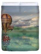 Sailing Away Daydream Steampunk Duvet Cover