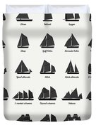 Sailing Vessel Types And Rigs Duvet Cover