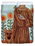 Saint Francis And The Wolf Of Gubbio Duvet Cover