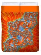 Saint Georges Vanquished Dragon Fractal Abstract Duvet Cover by Rose Santuci-Sofranko