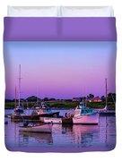 Sakonnet Point Boats Duvet Cover