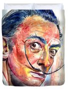 Salvador Dali Portrait Duvet Cover