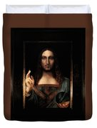 Salvator Mundi After Leonardo Da Vinci Duvet Cover