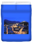 Salzburg At Night Austria  Duvet Cover