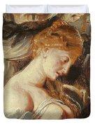 Samson And Delilah, Detail Of Delilah Duvet Cover