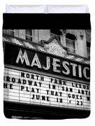 San Antonio Majestic Theatre Duvet Cover