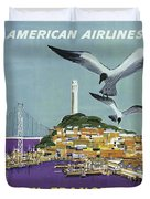 San Francisco American Airlines Duvet Cover