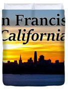 San Francisco Sunrise 2x3 Duvet Cover