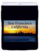 San Francisco Sunrise 2x3 Duvet Cover