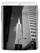 San Francisco - Transamerica Pyramid Bw Duvet Cover