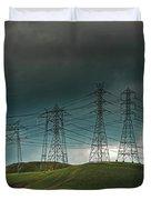 San Joaquin Valley Power Grid Duvet Cover