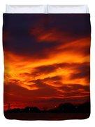 Fire In The Sandusky Sky Duvet Cover