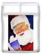 Santa Knows Duvet Cover