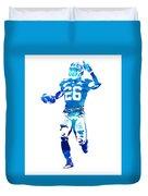 Saquon Barkley New York Giants Water Color Pixel Art 10 Duvet Cover