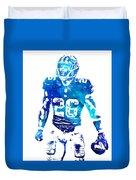 Saquon Barkley New York Giants Water Color Pixel Art 11 Duvet Cover