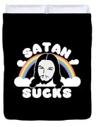 Satan Sucks Duvet Cover