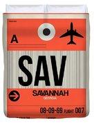 Sav Savannah Luggage Tag I Duvet Cover