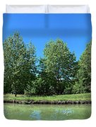Scenic View Of Burgundy Canal Duvet Cover