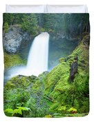 Scenic View Of Waterfall, Portland Duvet Cover