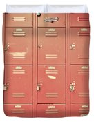 School Lockers Duvet Cover