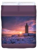 Scrabo Winter Sunrise Duvet Cover