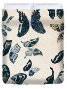 Scrapbook Butterflies Duvet Cover