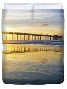 Scripps Pier Golden Hour 1 Duvet Cover
