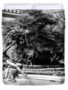 Sculpture Getty Villa Black White  Duvet Cover