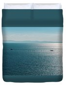 Sea With Two Boats Duvet Cover