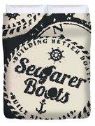 Seaside Sailors Badge Duvet Cover