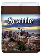 Seattle From Kerry Park Duvet Cover