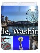 Seattle Washington Waterfront 02 Duvet Cover
